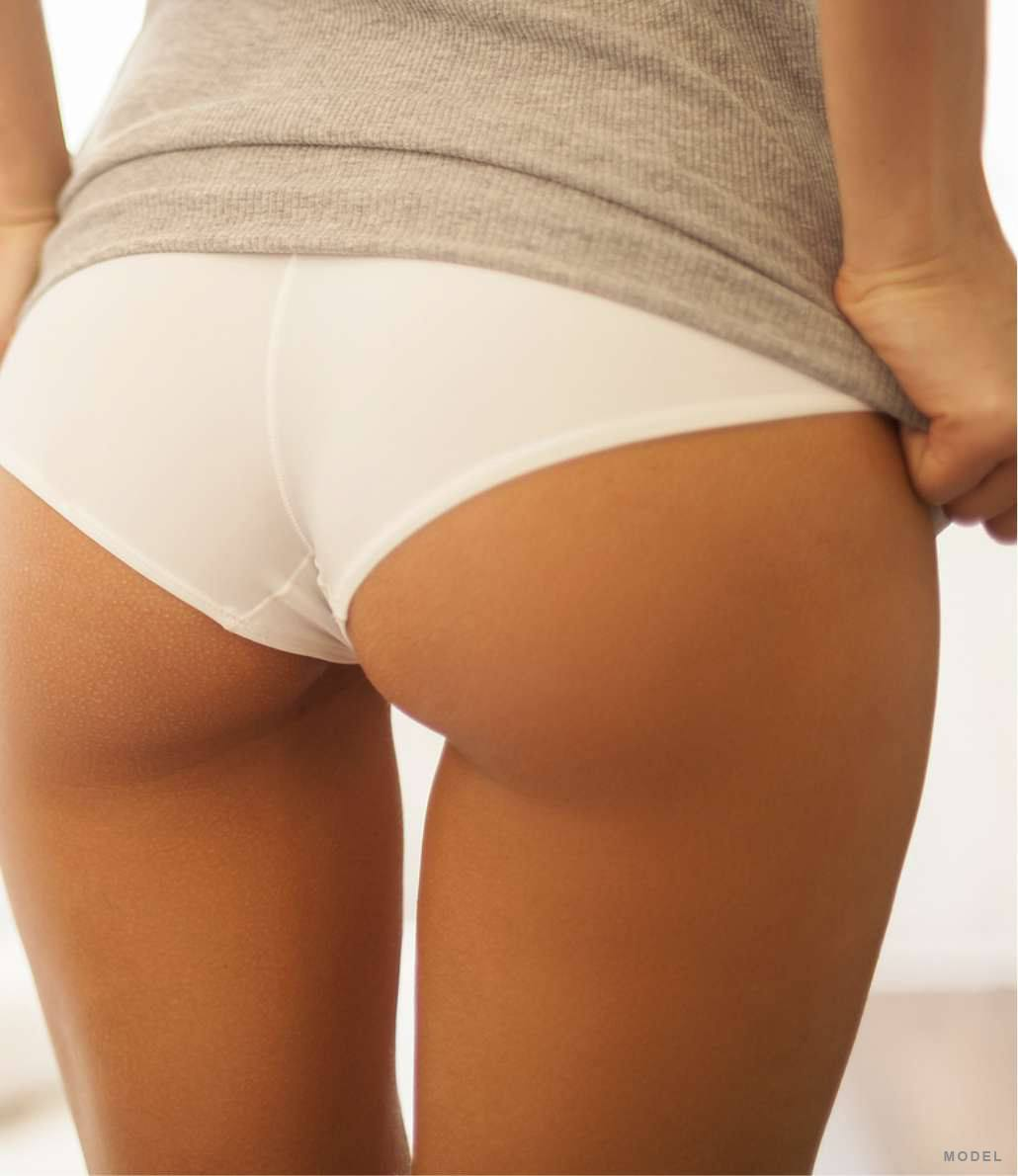 Back of woman's thighs